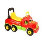 Детски камион за яздене, червен