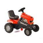 Детски трактор с педали, червен