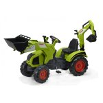 Голям детски трактор с педали, гребло и кофа Falk Claas