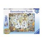 Пъзел Ravensburger 200 елемента - Пиратска карта