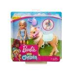 Кукла Barbie - Игрален комплект Челси с пони