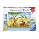 Пъзел Ravensburger 2х12 ел. - Сафари животни