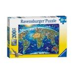 Пъзел Ravensburger 200 ел. - Карта на световните забележителности