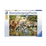 Пъзел Ravensburger 500 ел. - Величествени животни