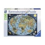 Пъзел Ravensburger 1500 ел. - Карта на Земята