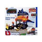 Bburago Street Fire - гараж Skyline с автомивка и 1бр. кола 1:43
