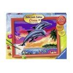 Рисувателна галерия Цветни делфини