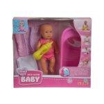 Кукла пишкащо бебе Mini New Born Baby - бебе с вана